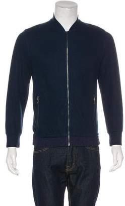 Michael Kors Woven Zip-Front Sweater
