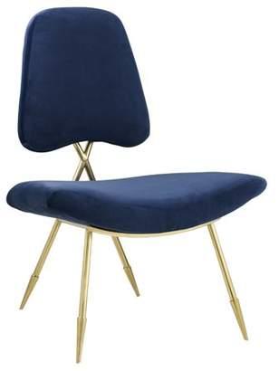 Modway Ponder Upholstered Velvet Lounge Chair, Multiple Colors