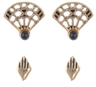 Jules Smith Designs Katerina Fan Stud Earrings - Set of 2