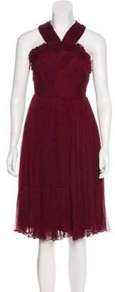 Needle & Thread Midi Chiffon Dress