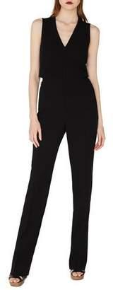 Akris Sleeveless V-Neck Front-Zip Straight-Leg Jumpsuit