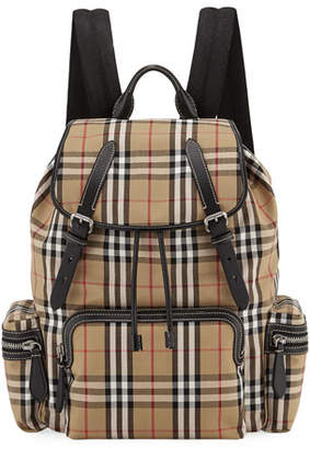 Burberry Men's Rucksack Signature Check Backpack