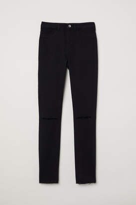 H&M Super Skinny Fit High Jeans - Black