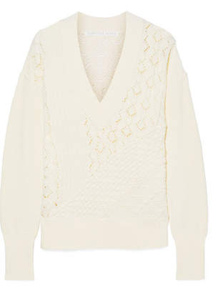 Veronica Beard Dessa Cotton Sweater - Cream