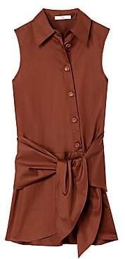 Tibi Women's Sleeveless Tie-Front Shirtdress