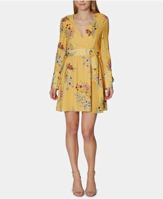 AVEC LES FILLES Havana Floral-Print A-Line Dress