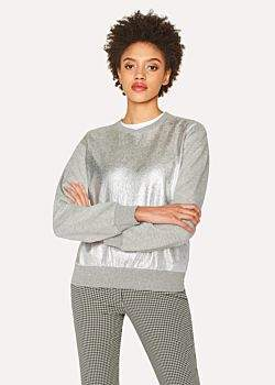 Paul Smith Women's Grey Sweatshirt With Metallic Front