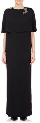 Lanvin Women's Embellished-Shoulder Gown-BLACK $4,625 thestylecure.com