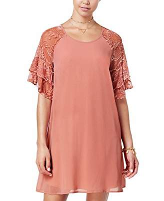 My Michelle Sequin Hearts Women's Big Girls' Ruffle Sleeve Dress