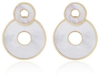 Mother of Pearl Retrouvai Swivel Earrings