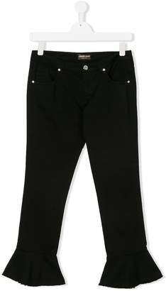 Roberto Cavalli flared hems trousers
