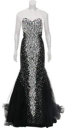Jovani Strapless Embellished Gown