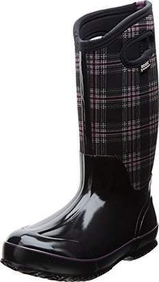 Bogs Women's Classic Tall Winter Plaid Waterproof Insulated Boot