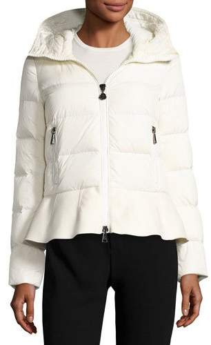 Moncler Moncler Nesea Quilted Puffer Coat w/Wool Trim