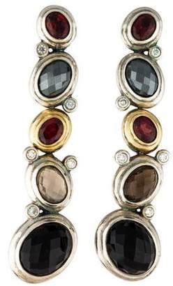 David Yurman Multistone Mosaic Drop Earrings