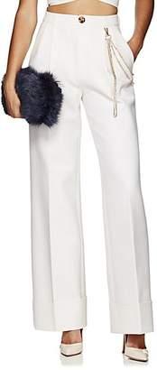 Area Women's Elsa Chain-Detail Wide-Leg Trousers - Cream