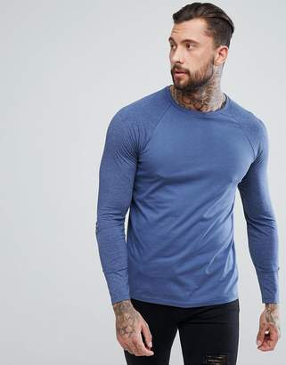 Asos DESIGN long sleeve contrast raglan t-shirt