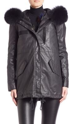 Alice + OliviaAlice + Olivia Tandy Two-In-One Hooded Parka & Fox Fur Vest