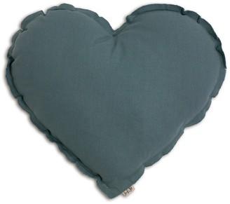 NUMERO 74 Heart cushion - grey blue $26.40 thestylecure.com