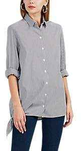 IRO Women's Uneal Striped Cotton-Blend Shirt - Dark Gray Size 34