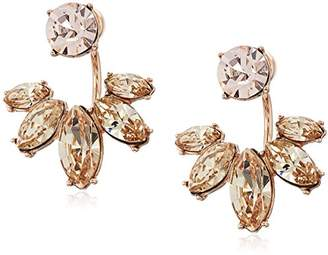 Marchesa Rose Goldstone/Blush Crystal Floater Earrings Jacket