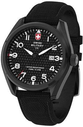 Swiss Military BY CHARMEX By Charmex Pilot Mens Black Strap Watch-78333_11_B