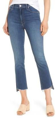 Women's Mother The Insider High Waist Step Hem Crop Bootcut Jeans $228 thestylecure.com