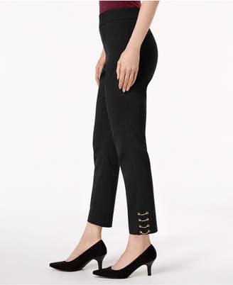 JM Collection Chain-Hem Ankle Pants