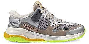 Gucci Women's Mixed-Material Sneakers
