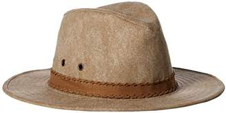 Ale By Alessandra Women's Jaxson Adjustable Vintage Washed Canvas Hat with Suede Trim and UPF 50+,Adjustable Head Size
