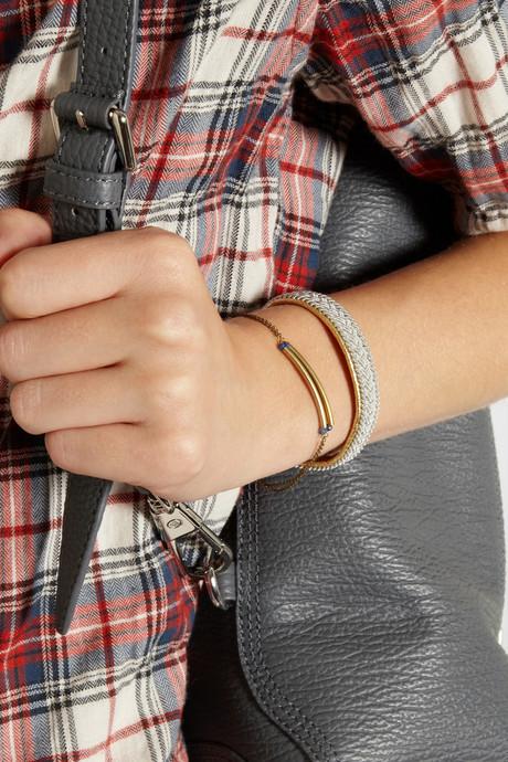 Isabel Marant Gold-tone spinel bracelet