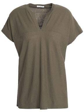 James Perse Cotton And Linen-Blend Slub Jersey Top