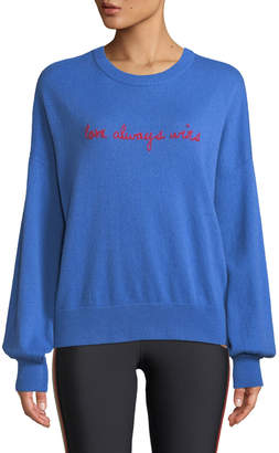 Spiritual Gangster Love Wins Slogan Wool-Cashmere Pullover Sweater