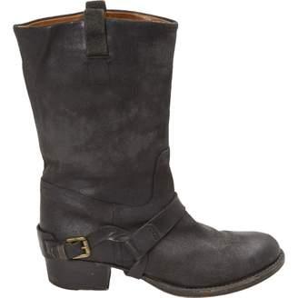 Ralph Lauren Leather biker boots