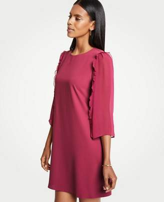 Ann Taylor Petite Chiffon Sleeve Shift Dress