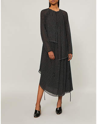 Loewe Polka dot-patterned chiffon dress