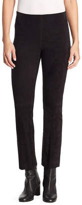Vince Stretch Suede Flare Pant