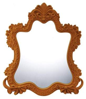 A&B Home Bright Orange Ornate Wall Mirror
