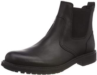 Timberland Men's Stormbucks Chelsea Boots, (Black Smooth), 39.5 EU