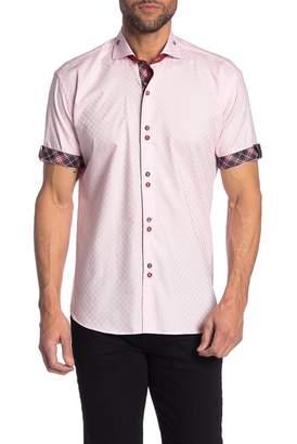 Maceoo Short Sleeve Slim Fit Square Shirt