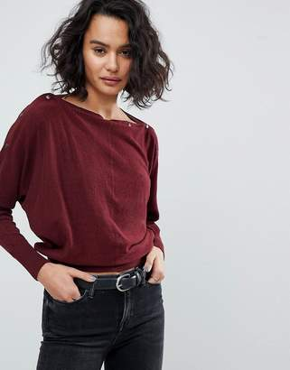 AllSaints Popper Detail Jumper