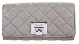 Michael Kors Michael Quilted Flap Wallet
