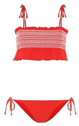 Lisa Marie Fernandez Selena smocked bikini