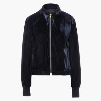 J.Crew Velvet bomber jacket