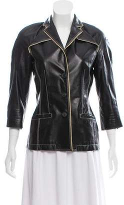 Jean Paul Gaultier Structured Leather Jacket