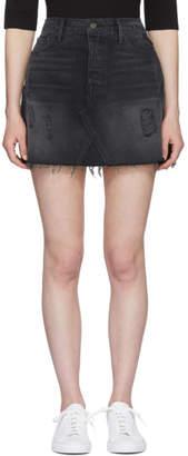 GRLFRND Black Eva Denim Miniskirt