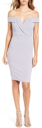 Women's Missguided Off The Shoulder Body-Con Dress $58 thestylecure.com