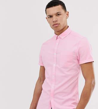 Asos Design DESIGN Tall casual skinny oxford shirt in pink
