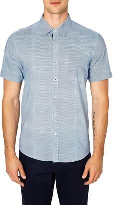 7 Diamonds Free Rein Trim Fit Sport Shirt