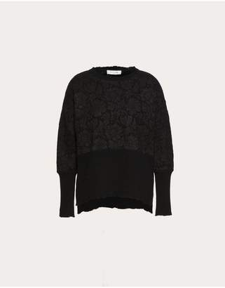 Valentino Cashmere Wool And Heavy Lace Sweater